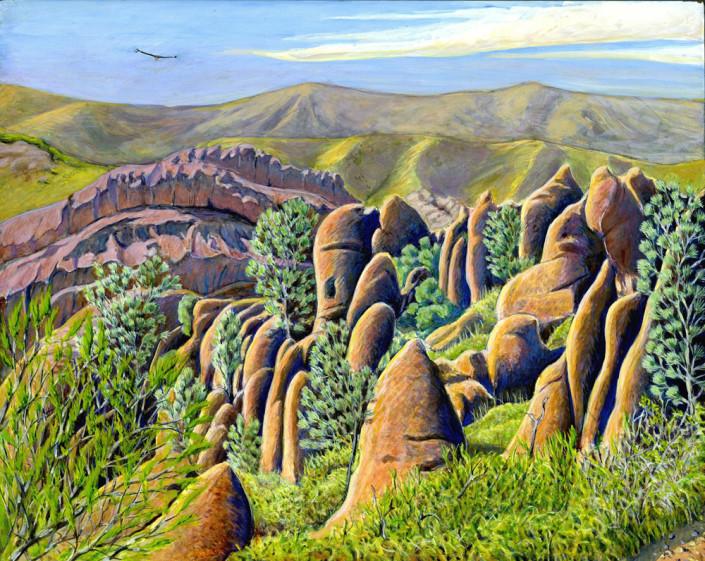 Condor, pinnacles, landscape